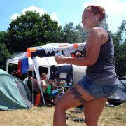 Der Campingspaß ist nicht weniger wichtig als die Musik.