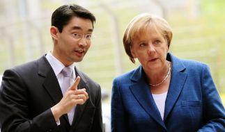 Rösler und Merkel (Foto)