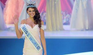 Rolene Strauss darf nun ein Jahr lang den Titel Miss World 2014 tragen. (Foto)