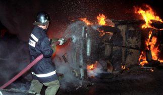 «Rostock brennt»: Im August 1992 herrschten in der Hansestadt bürgerkriegsähnliche Zustände. (Foto)