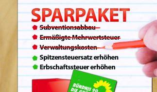Rot-grüne Sparpläne (Foto)