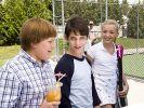 Rowley (Robert Capron), Greg (Zachary Gordon) und Schulschönheit Holly (Peyton Roi List). (Foto)