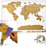Für Weltenbummler und die, die es noch werden wollen, ist die Rubbelkarte genau das Richtige.