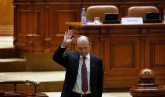 Rumäniens Parlament stimmt für Absetzung des Präsidenten (Foto)
