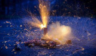 Rund 20 Rechtsextreme haben am Neujahrsmorgen in Merseburg (Sachsen-Anhalt) eine Flüchtlingsunterkunft mit Feuerwerkskörpern beschossen. (Foto)