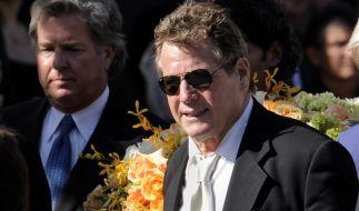 Ryan O´Neal bei der Beerdigung von Farrah Fawcett am 30. Juni 2009.  (Foto)