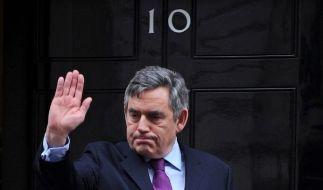 Sagt der Downing Street «Good-bye»: Gordon Brown. (Foto)