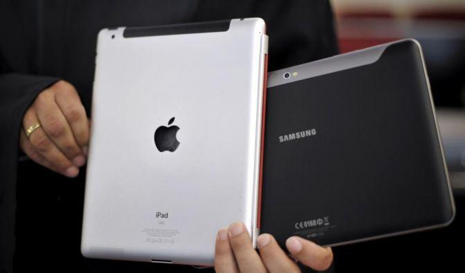 Samsung Galaxy und Apple iPad (Foto)
