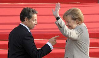 Sarkozy bei Merkel: Topthema Griechenlandkrise (Foto)