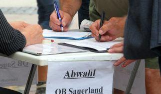 Sauerland will sich Abwahlverfahren stellen (Foto)