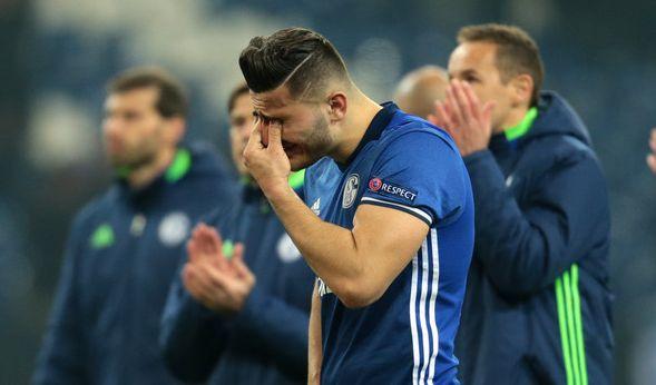 Schalke-Spieler Sead Kolasinac nach dem Halbfinal-Aus des FC in der Europa League 2016/17.