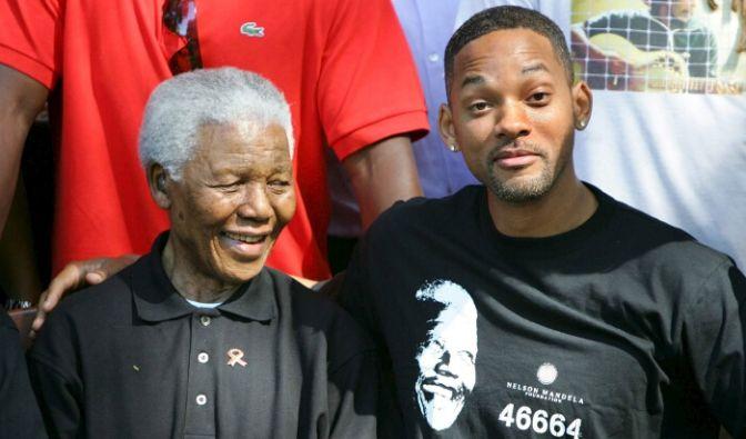 zurck weiter schauspieler will smith zusammen mit nelson mandela foto - Nelson Mandela Lebenslauf
