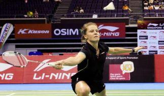 Schenk im Badminton-Finale von Singapur (Foto)