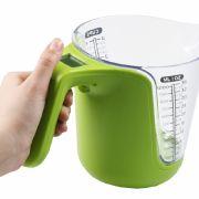 Schicker Hingucker in apfelgrün - der digitale Messbecher von KitchPro ziert jede Küche.