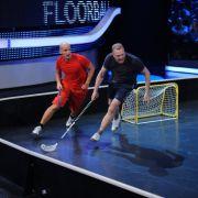 Stefan und Thorsten beim Floorball.