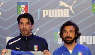 Schlitzohrige Nationalhelden: Gianluigi Buffon und Andrea Pirlo - gemeinsam 68 Jahre alt. (Foto)