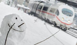 Schneechaos: Infos für Bahn- und Fluggäste (Foto)