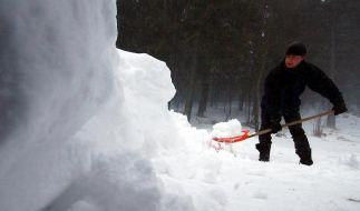 Schneeschippen ist Pflicht (Foto)