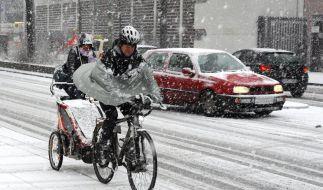 Schneetreiben in Berlin (Foto)