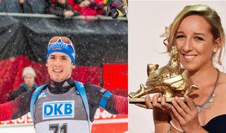Schon seit einem Jahr ein Paar: Biathleten Simon Schempp und Franziska Preuß (Foto)