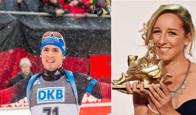 Schon seit einem Jahr ein Paar: Biathleten Simon Schempp und Franziska Preuß