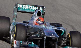 Schumacher der Schnellste im alten Mercedes (Foto)