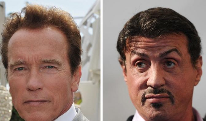 Schwarzenegger neben Stallone im Krankenhaus (Foto)