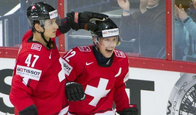 Schweizer Eishockey-Team besiegt Kasachstan bei WM (Foto)