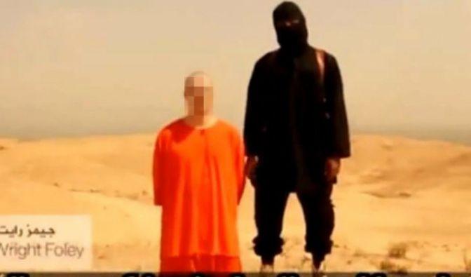 Screenshot eines Videos, das von der Terrormiliz Islamischer Staat (IS) aufgenommen worden sein soll und angeblich die Enthauptung des US-Fotografen James Foley zeigt. (Symbolbild) (Foto)