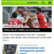 Screenshots aus der mobilen Version von news.de - zur Vollansicht bitte auf die Lupe klicken.