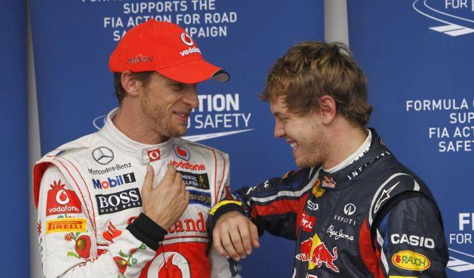 Sebastian Vettel und Jenson Button (Foto)