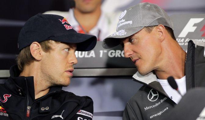 Sebastian Vettel und Michael Schumacher (Foto)