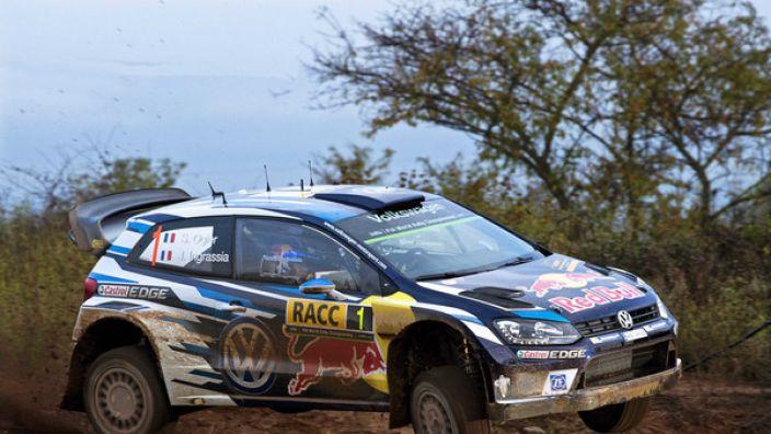 Sebastien Ogier aus Frankreichfuhr 2016 noch mit seinem Volkswagen Polo bei der Rallye-WM in Spanien mit.