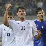 Sein 22. Tor im 52. Länderspiel: Mario Gomez trifft zum 1:0.