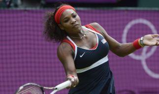 Serena Williams beim olympischen Turnier in Runde zwei (Foto)