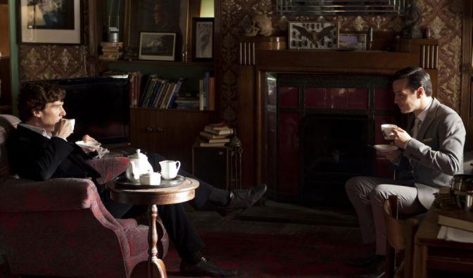 Sherlock und Moriarty sind Erzfeinde. (Foto)