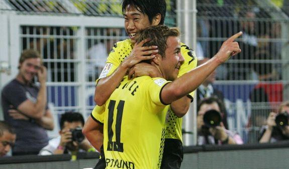 Shinji Kagawa und Mario Götze (Foto)