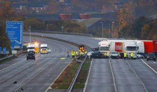 Sieben Tote bei Massenunfall in England (Foto)