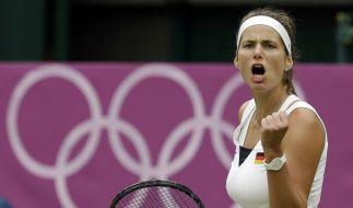 Sieg gegen die Nummer zwei der Welt: Julia Görges schlug Agnieszka Radwanska. (Foto)