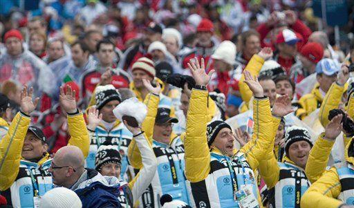 Siegestaumel der deutschen Athleten (Foto)