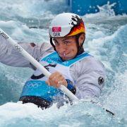 Silber im Kanal: Slalomkanute Sideris Tasiadis bei seinem Olympia-Debüt.