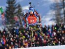 Simon Schempp aus Deutschland beim Sprint der Herren am 11. Februar bei der Biathlon-Weltmeisterschaft in Hochfilzen (Österreich). (Foto)
