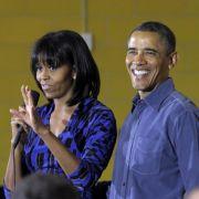 Sind für weitere vier Jahre die First Family im Weißen Haus: Barack und Michelle Obama.