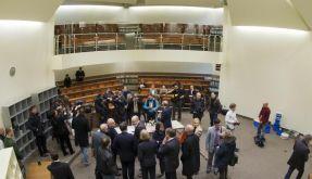 Sitzungssaal 101 des Oberlandesgerichtes München: Der Auftakt im NSU-Prozess ist drei Wochen später. (Foto)