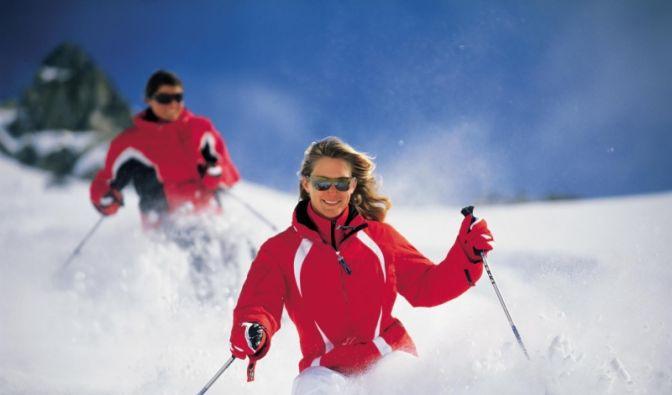 SKI-ALPIN Skifahrerin  (Foto)