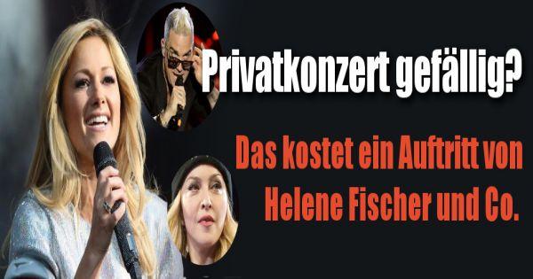 So Viel Kostet Ein Auftritt Von Helene Fischer Beyonc Und Co