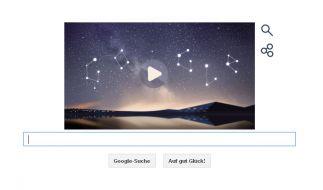 So sieht es aus, das Google Doodle zum Meteoritenschwarm der Perseiden. (Foto)