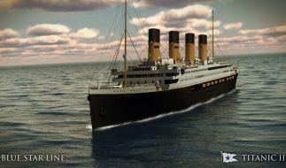 So könnte sie aussehen: Die Titanic II: Der australische Milliardär Clive Palmer will schon 2018 mit dem exakten Nachbai in See stechen. (Foto)