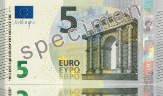 So soll er aussehen, der neue Fünf-Euro-Schein. (Foto)
