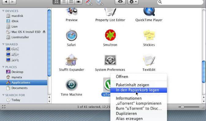 So verschwinden überflüssige Programme aus Mac OS (Foto)